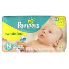 Pampers Swaddlers Jumbo Pack Diapers, Size N 32 ea (Pack of 3)