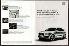 2009 AUDI Q5 Original 2 page Print AD - Silver SUV photo Canada English FSI