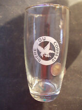Rare verre bière du CORBEAU  brasserie Lecelles Nord 59 ch'ti bière baril 1960