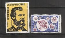Central African Republic SC # 248 And 250 A.G Bell- Staellite and ITU Emblem.MNH