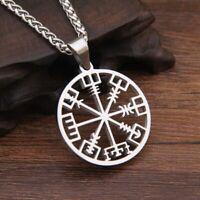 Anhänger mit Vegvisir Symbol Vikings Wikinger Kelten Germanen Runen Amulett