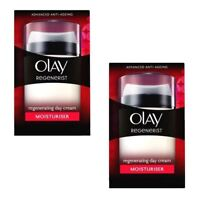 2 Olay Regenerist Regenerating Moisturiser Anti-Ageing Day Cream Hydrating 50ml
