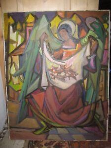 Ölbild Ludwig Maria Beck Expressionist München Haus der Kunst TOPBILD !!!