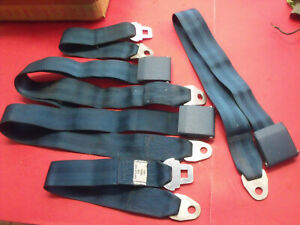 """NOS 1969 Dodge Chrysler Plymouth Misc. Seat Belt Lot """"Turquoise Blue"""""""