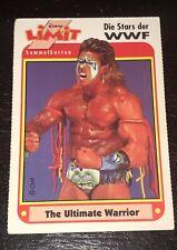 """1992 German Disney WWE  """"Ultimate Warrior"""" Wrestling💎Die Stars Der WWF🔥Rookie"""
