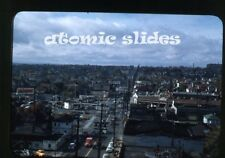 1950s Photo slide  Seattle WA street scene Gas Stations   cars
