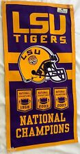 LSU Tigers Football NCAA National Championship Banner