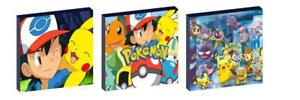 POKEMON b WALL ART PLAQUES/PICTURES set of 3