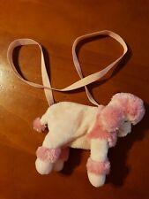 Girls shoulder bag, pink poodle. pink purse.
