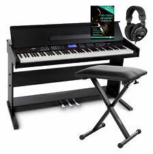 88-Tasten Digital E-Piano Set Home Keyboard Bank Hocker Kopfhörer Schule schwarz