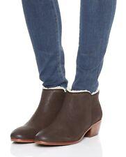 NIB Sam Edelman Petty Leather Shearling Ankle Bootie Boot, Coffee (Brown), sz 9M