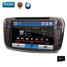 2 Din 7 Zoll Autoradio GPS Navigation DVD USB für Ford Mondeo Focus S-Max Galaxy