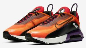 Men's Nike Air Max 2090 Running Shoes, BV9977 800 Multi Sizes Orange/Black/Eggpl