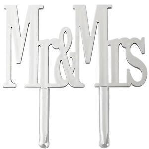 Wilton Mr. & Mrs. Silver Cake Pick #202-2024 Wedding Anniversary