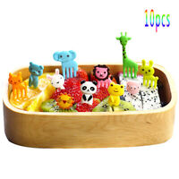 10pcs Bento Cute Animal Food Fruit Picks Forks Lunch Box Accessory Decor Tool