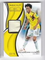 2018-19 Juan Guillermo #/75 Boot Panini Immaculate Colomabia Soccer