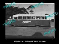 OLD POSTCARD SIZE PHOTO OF GOSFORD NSW THE GOSFORD TOURIST BUS c1950s