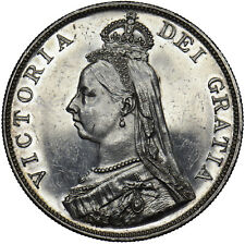 More details for 1887 double florin - victoria british silver coin - very nice