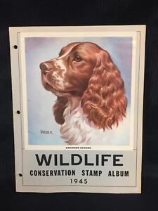 1945 Wildlife Conservation Stamp Album Springer Spaniel - Collectors