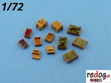 Redog 1:72/76 military modelling diorama accessories crates kit supply food /b 7