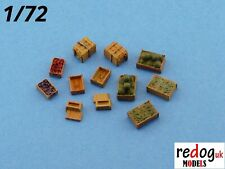 Redog 1:72/76 military modeling diorama accessories crates kit supply food /b 7