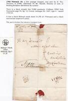 ! 1763 FREE THOMAS THORNTON WRAPPER YORK PMK TO ANSILL READING LONDON BISHOPMARK