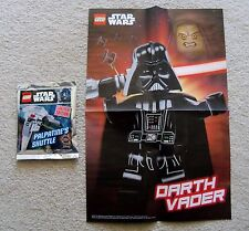 LEGO Star Wars - Rare - 911617 Palpatine's Shuttle Foil pack w/ Vader Poster