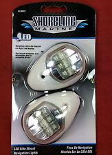 BOW LIGHTS LED SIDE MOUNT RED & GREEN NAVIGATION LIGHTS SHORELINE SL76624