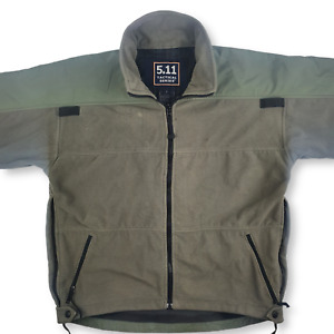 5.11 Tactical 48004 Tactical Fleece Full Zip Jacket Green Size Small