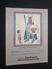 PROTEGE CAHIER VACHE QUI RIT ANNEES 1950-1960 HERVE BAILLE GAULOIS HISTOIRE 2