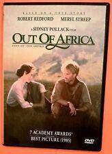 Out of Africa DVD Region 2 Meryl Streep Robert Redford Brandauer Pollack Bowens