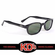 KD's Original Black Frame Dark Green Lens KD Biker Riding Sunglasses Glasses SOA