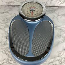 Retro EKS Bathroom  Weighing Scales Blue & Silver Large Size #MBM