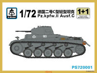 S-model PS720001 1/72 Pz.Kpfw.II Ausf.C Light Tank (1+1) Hot