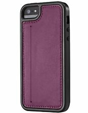 Skech Kameo Leather Wallet Defensive Case for iPhone 5/5S/SE- Purple