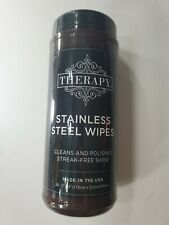 Therapy Stainless Steel Cleaner + Polish Wipes 30 count