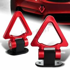 JDM Universal Car SUV Triangle Track Racing Style Tow Hook Look Decoration RED