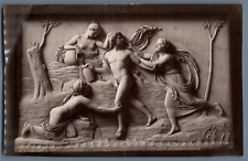 Sculpture Bertel Thorvaldsen: Hylas and the Water Nymphs  Vintage albumen print.