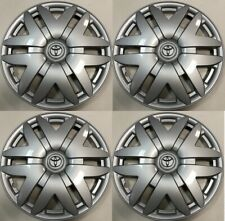 "4 NEW 16"" Hub Cap Silver Fits 2004 2005 2006 2007 TOYOTA SIENNA Wheel COVER"