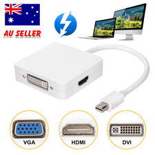 3in1 Mini Displayport DP to HDMI DVI VGA Adapter Cable for MacBook Thunderbolt