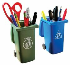Mini Curb Trash & Recycle Bins - Put Out For Desk-Side Pick Up Cool Office Set