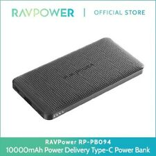 RAVPower 10000mAh Ultra-Thin 18W Power Delivery Type-C Quick Charge 3.0 RP-PB094