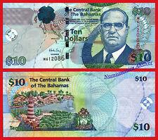 BAHAMAS 10 Dollars dolares 2009 Pick 73A  SC / UNC