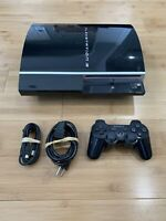 Sony PlayStation 3 Fat Console 80GB CECHL01 PS3 System Bundle - Ships Fast