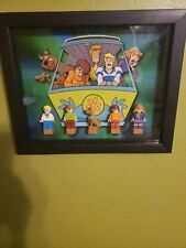 Scooby-Doo Lego Glass Shadowbox Display*Minifigures are not included*