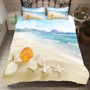 Ocean Beach Duvet Doona Quilt Cover Set Queen King Bedding Set Pillow Case Wave