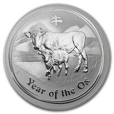 2009 Australia 10 oz Silver Year of the Ox BU (Series II) - SKU #42887