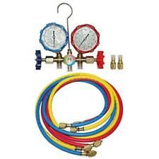 R410a Dual Manifold Gauge Set 3 Color Charging Hoses Air Conditioner Hvac 59