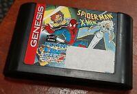 Sega Genesis Spider-Man/X-Men Arcade's Revenge cleaned tested & tested authentic