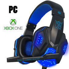 Pro Gamer PC & Xbox Headset for the Latest Microsoft Xbox One Blue Headphones
